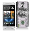 HTC One Mini Hundred Dollars Hard Rubberized Design Case Cover Angle 1