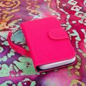 Alcatel OneTouch Evolve - Pink/ Navy Blue MPERO FLEX FLIP Wallet Case Cover Angle 2