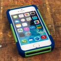 Apple iPhone 5/5S/SE - Blue/ Green MPERO IMPACT X - Kickstand Case Cover Angle 2