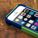 Apple iPhone 5/5S/SE - Blue/ Green MPERO IMPACT X - Kickstand Case Cover Angle 5