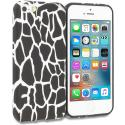 Apple iPhone 5/5S/SE Black Giraffe TPU Design Soft Rubber Case Cover Angle 1