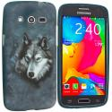 Samsung Galaxy Avant G386 Wolf TPU Design Soft Rubber Case Cover Angle 1