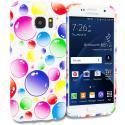 Samsung Galaxy S7 Edge Bubbles TPU Design Soft Rubber Case Cover Angle 1