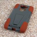 Motorola DROID TURBO - Sandstone / Gray MPERO IMPACT X - Kickstand Case Angle 3
