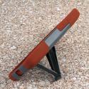 Motorola DROID TURBO - Sandstone / Gray MPERO IMPACT X - Kickstand Case Angle 4