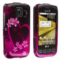 LG Optimus S LS670 / U / V Purple Love Design Crystal Hard Case Cover Angle 1