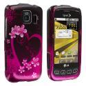 LG Optimus S LS670 / U / V Purple Love Design Crystal Hard Case Cover Angle 1