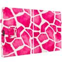 Microsoft Surface Pro 3 Design Giraffe Pink Folio Pouch Flip Case Cover Stand Angle 2