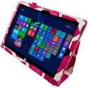 Microsoft Surface Pro 3 Design Giraffe Pink Folio Pouch Flip Case Cover Stand Angle 3