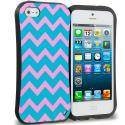 Apple iPhone 5/5S/SE Pink Wave Hybrid TPU Hard Soft Shockproof Drop Proof Case Cover Angle 1