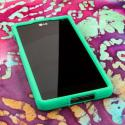 Sprint LG Optimus G - Mint Green MPERO SNAPZ - Rubberized Case Cover Angle 2