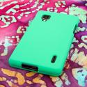 Sprint LG Optimus G - Mint Green MPERO SNAPZ - Rubberized Case Cover Angle 3