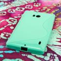 Nokia Lumia Icon - MINT GREEN MPERO FLEX S - Protective Case Cover Angle 3