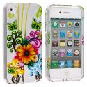 Apple iPhone 4 Sunflower Design Crystal Hard Case Cover Angle 1