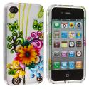 Apple iPhone 4 Sunflower Design Crystal Hard Case Cover Angle 2