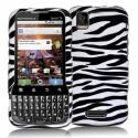 Motorola Xprt Black / White Zebra Design Crystal Hard Case Cover Angle 1