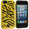 Apple iPhone 5/5S/SE Black / Yellow Hybrid Zebra Hard/Soft Case Cover Angle 1