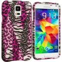 Samsung Galaxy S5 Bowknot Zebra 2D Hard Rubberized Design Case Cover Angle 1
