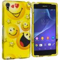 Sony Xperia Z2 Smiley Face 2D Hard Rubberized Design Case Cover Angle 1