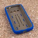 Samsung Galaxy Avant - Blue MPERO IMPACT XS - Kickstand Case Cover Angle 2