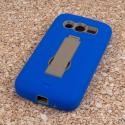 Samsung Galaxy Avant - Blue MPERO IMPACT XS - Kickstand Case Cover Angle 3