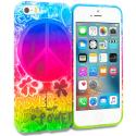 Apple iPhone 5/5S/SE Flower Power TPU Design Soft Rubber Case Cover Angle 1