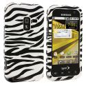 Samsung Conquer 4G D600 Black / White Zebra Design Crystal Hard Case Cover Angle 1