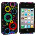 Apple iPhone 4 / 4S Bubbles Design Crystal Hard Case Cover Angle 1