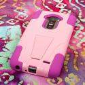 LG G Flex - Pink MPERO IMPACT X - Kickstand Case Cover Angle 3