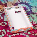 LG Mach - Mint Chevron MPERO SNAPZ - Rubberized Case Cover Angle 2
