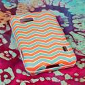 LG Mach - Mint Chevron MPERO SNAPZ - Rubberized Case Cover Angle 3