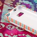LG Mach - Mint Chevron MPERO SNAPZ - Rubberized Case Cover Angle 4