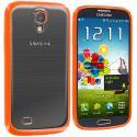 Samsung Galaxy S4 Orange TPU Plastic Hybrid Case Cover Angle 1