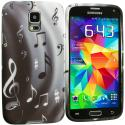 Samsung Galaxy S5 Musical Notes TPU Design Soft Case Cover Angle 2