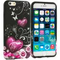 Apple iPhone 6 Plus 6S Plus (5.5) Heart Melody TPU Design Soft Rubber Case Cover Angle 1
