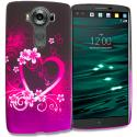 LG V10 Purple Love TPU Design Soft Rubber Case Cover Angle 1