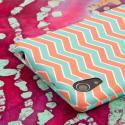 Sony Xperia Z2 - Mint Chevron MPERO SNAPZ - Case Cover Angle 7