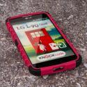 LG Optimus L90 - Hot Pink MPERO IMPACT SR - Kickstand Case Cover Angle 2