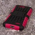 LG Optimus L90 - Hot Pink MPERO IMPACT SR - Kickstand Case Cover Angle 3