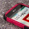 LG Optimus L90 - Hot Pink MPERO IMPACT SR - Kickstand Case Cover Angle 5