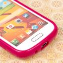 Samsung Galaxy Prevail 2 - Hot Pink MPERO FLEX S - Protective Case Cover Angle 5