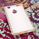 HTC 8XT - Mint Chevron MPERO SNAPZ - Rubberized Case Cover Angle 2