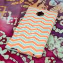 HTC 8XT - Mint Chevron MPERO SNAPZ - Rubberized Case Cover Angle 3