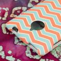 HTC 8XT - Mint Chevron MPERO SNAPZ - Rubberized Case Cover Angle 7