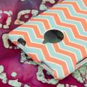 HTC 8XT - Mint Chevron MPERO SNAPZ - Rubberized Case Cover Angle 7