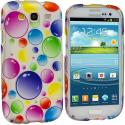 Samsung Galaxy S3 Bubbles Design Crystal Hard Case Cover Angle 1