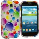 Samsung Galaxy S3 Bubbles Design Crystal Hard Case Cover Angle 2