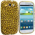 Samsung Galaxy S3 Yellow Leopard TPU Design Soft Case Cover Angle 1