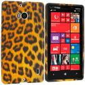 Nokia Lumia 929 Icon Leopard Print TPU Design Soft Case Cover Angle 1