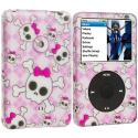 Apple iPod Classic Cute Skulls Hard Rubberized Design Case Cover Angle 1